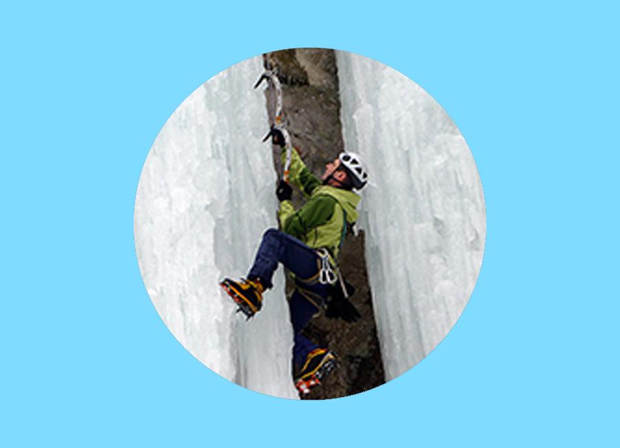 sezione cascate di ghiaccio